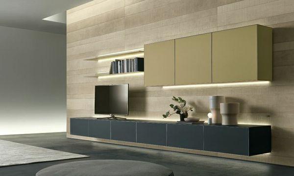 Wohnzimmer Moderne Einrichtung Hängendes Sideboard