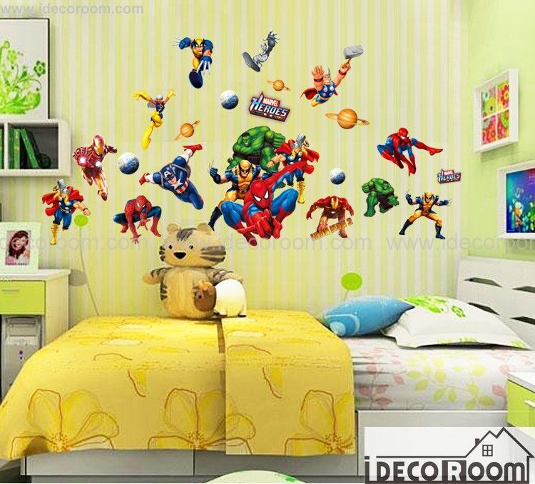 Super heroes Wall decals | Pinterest | Wall decals, Hero and Walls