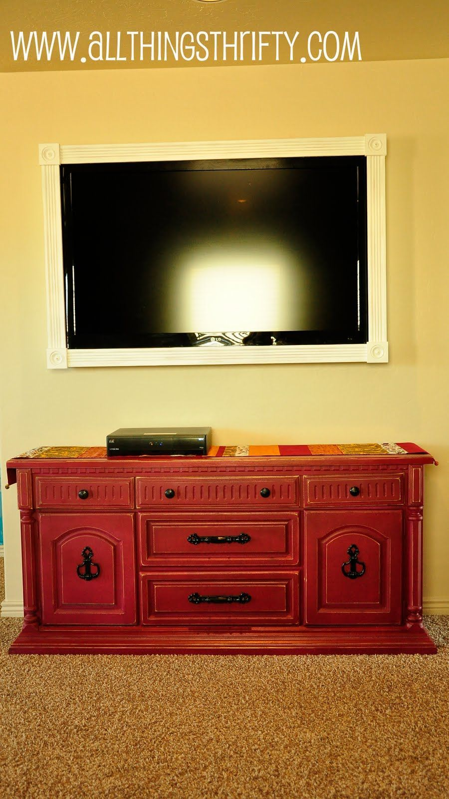 All Things Thrifty Home Accessories and Decor: Cover up ugly LCD TV ...