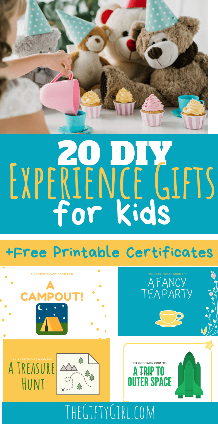 Check Out This Post On 20 DIY Experience Gift Ideas For Kids That Are Cheap Or Free