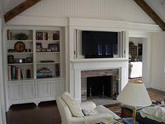 Tv Media Custom Cabinetry Millwork Tv Above Fireplace Built In Tv Cabinet Hide Tv Over Fireplace