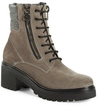 Women's Moncler 'Viviane Scarpa' Hiking Boot, Size 35 EU - Grey