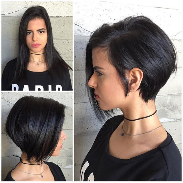 Asymmetrical Bob Thick Hair Styles Short Hair Styles