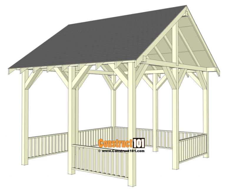 Pavilion Plans 14x16 DIY Free Outdoor Projects   Raised ...
