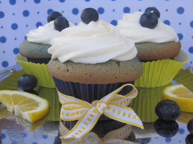 Lemon Curd Filled Blueberry Cupcakes with Lemon Cream Cheese Frosting | My Feelings Taste Like Cupcakes