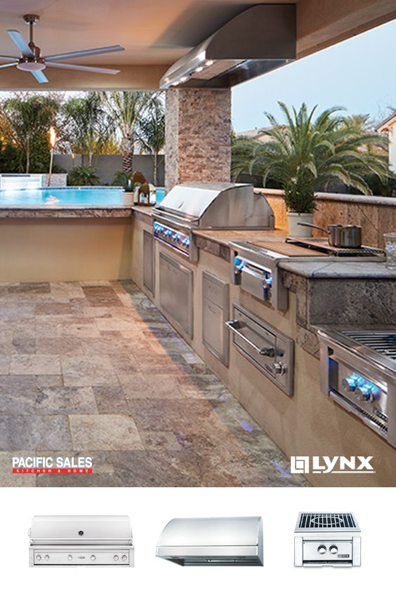 Turn Your Before Into An After Find Everything For The Outdoor Kitchen With Lynx Grills From Grillin Outdoor Kitchen Design Outdoor Kitchen Backyard Kitchen