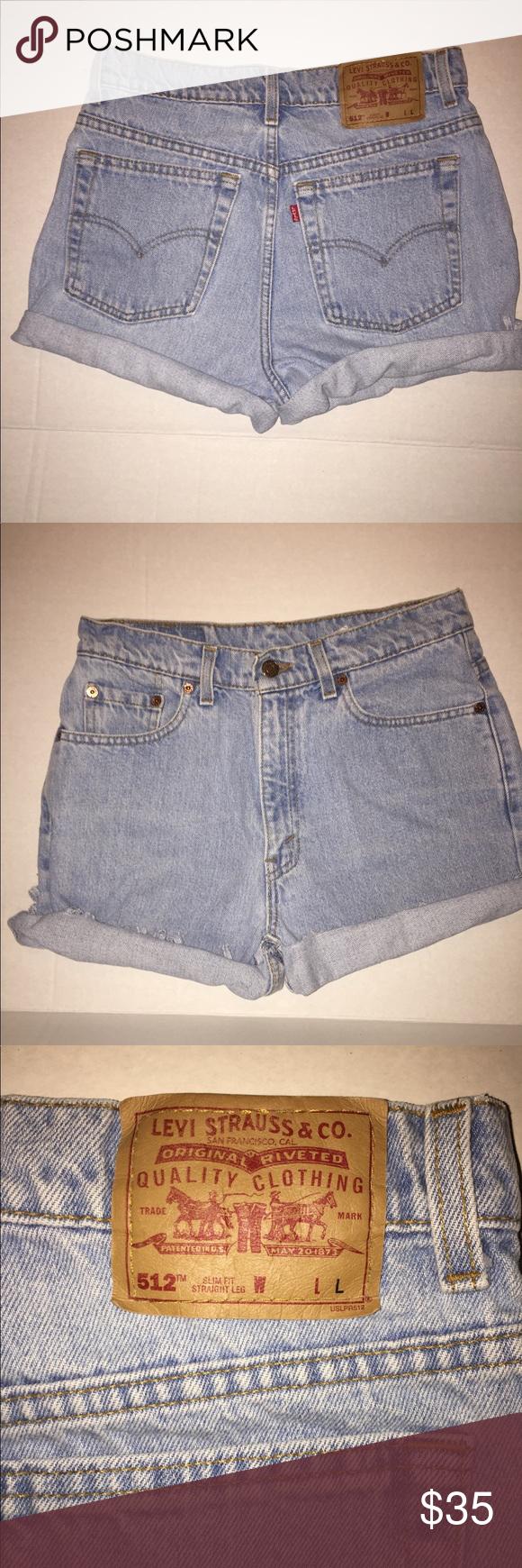 64744ad2d3 Vintage Levi's 512 Cut Off High Waist Shorts