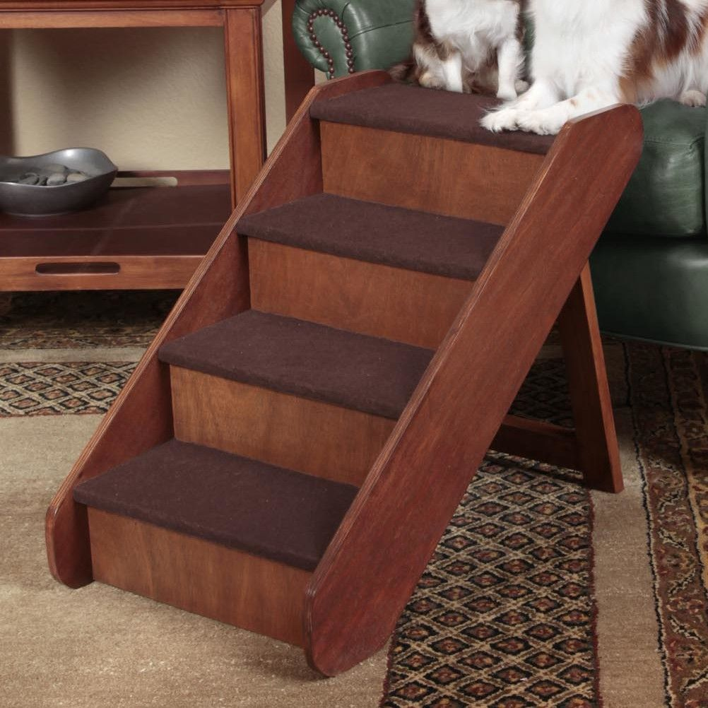 PupStep Wood 4 Step Pet Stair Pet stairs, Dog stairs for