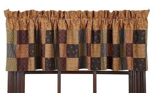 Lewiston Patchwork Lined Valance Patchwork Curtains Valance Country Style Curtains