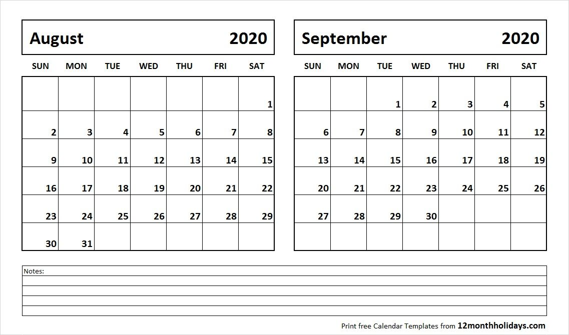 August And September 2020 Calendar August and September 2020 Calendar   2018 Calendar   2018 calendar