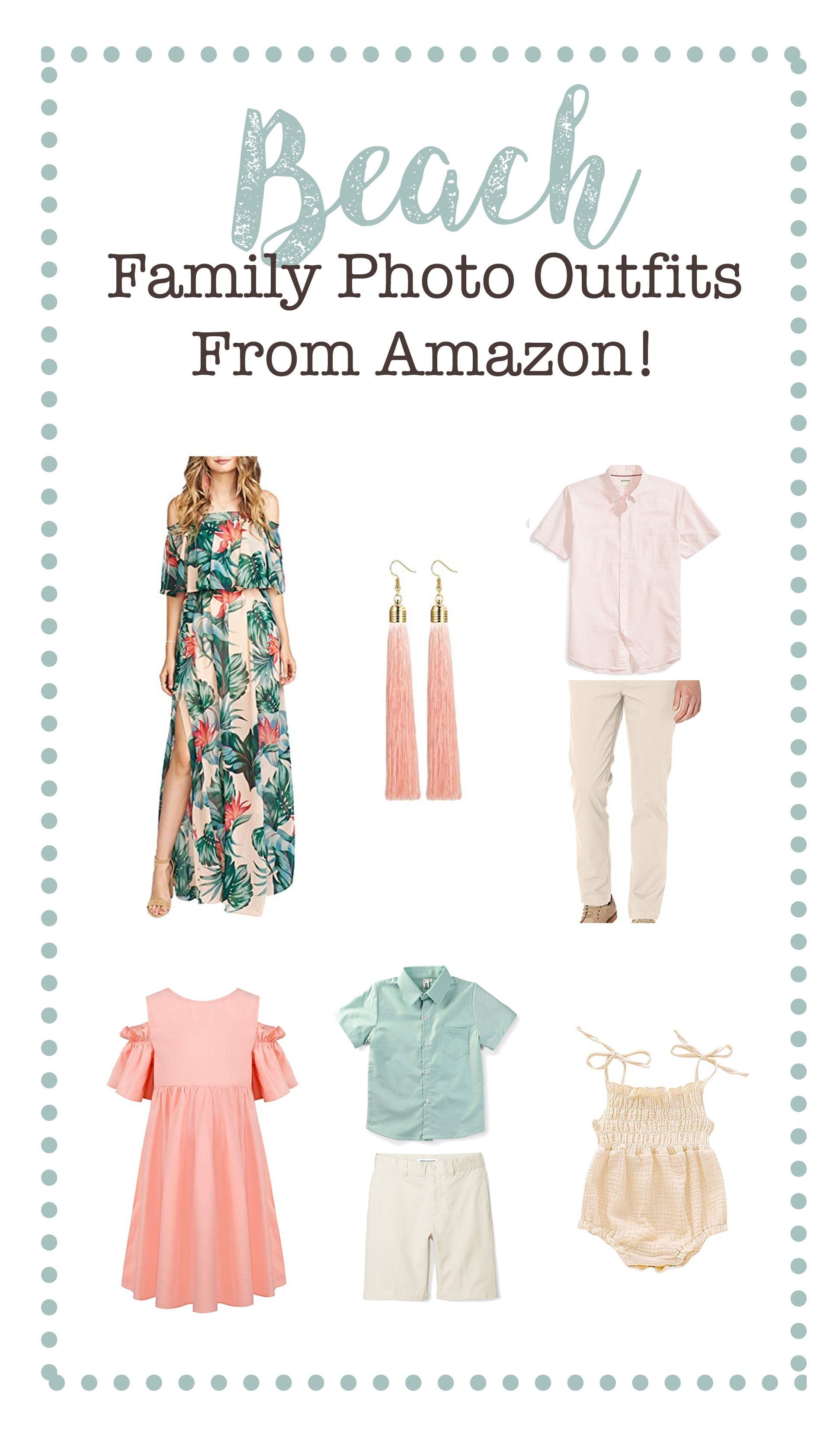 Beach Family Photo Outfits from Amazon! | Affordable Photography Props #familyphotooutfits