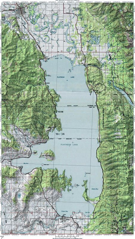 map of flathead lake Flathead Lake Map Flathead Lake Montana Flathead Lake Lake Map map of flathead lake