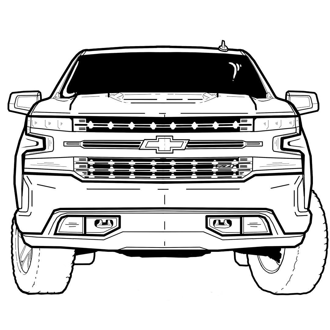 Pin On Chevrolet Colouring Books