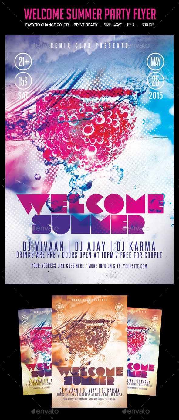 welcome summer party flyer clubs parties club flyer welcome summer party flyer clubs parties