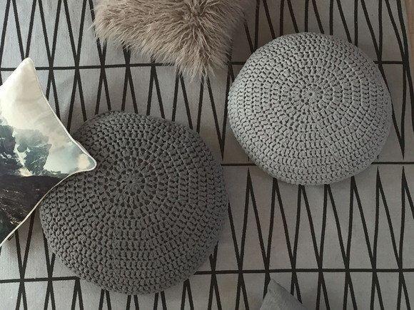 Large Meditation Cushion Round Pillow Seating Knit Floor Cushion