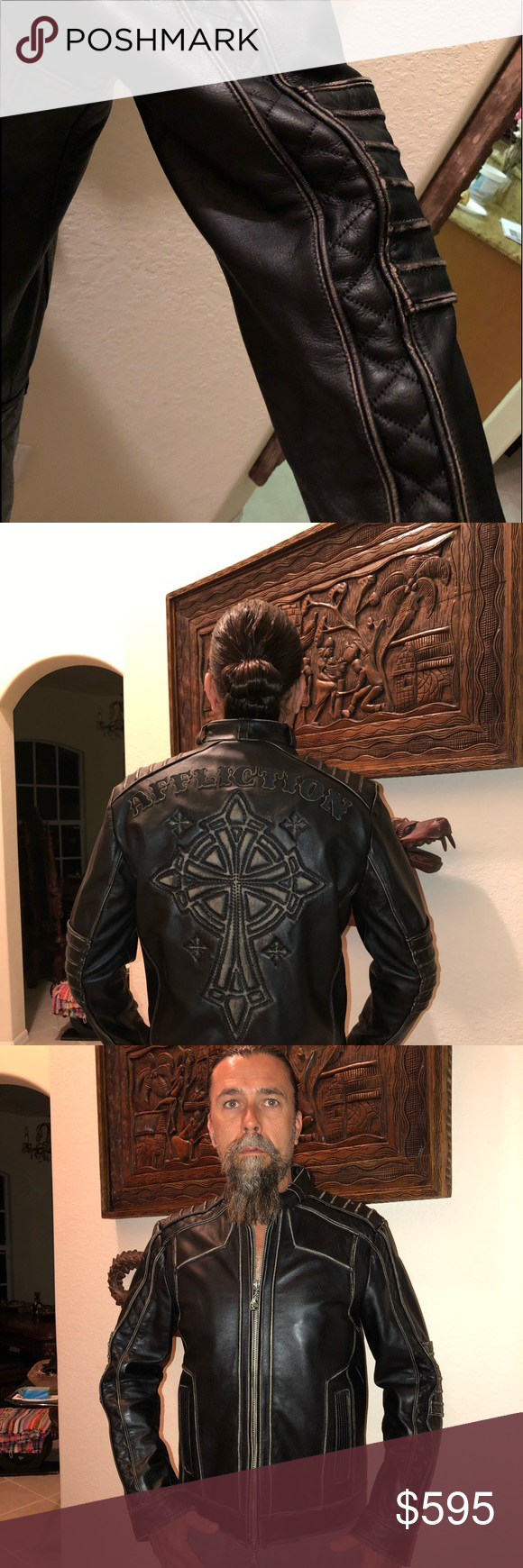 NWT Limited Edition Affliction Leather Jacket NWT
