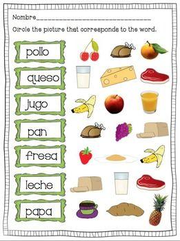 comida spanish food drink spanish classroom ideas elementary spanish classroom spanish. Black Bedroom Furniture Sets. Home Design Ideas