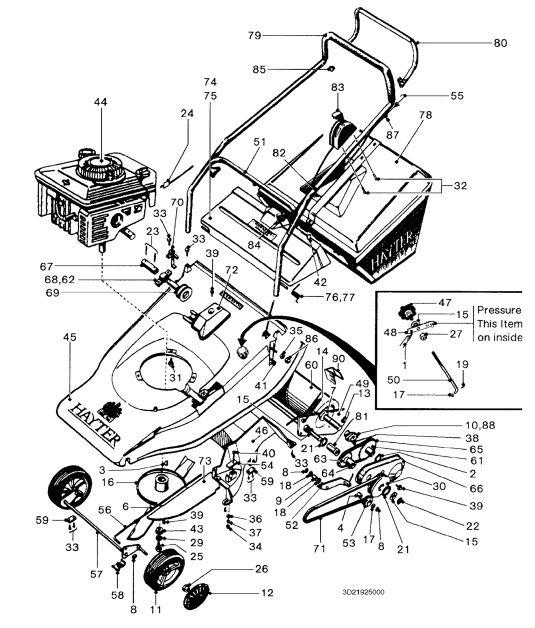 hayter harrier 48 22008836 spares ordering diagrams