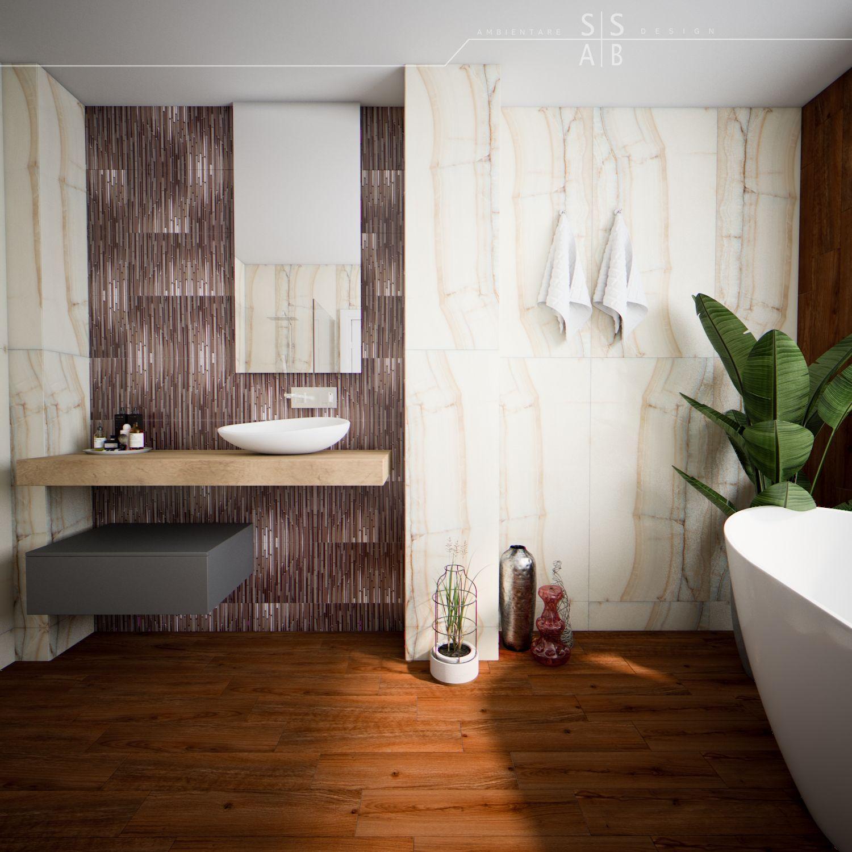 ceramic wood floor freestanding bathtub slim tiles