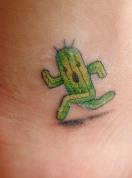Cactuar tattoo! What a cute idea! I'd love a cactuar tattoo!