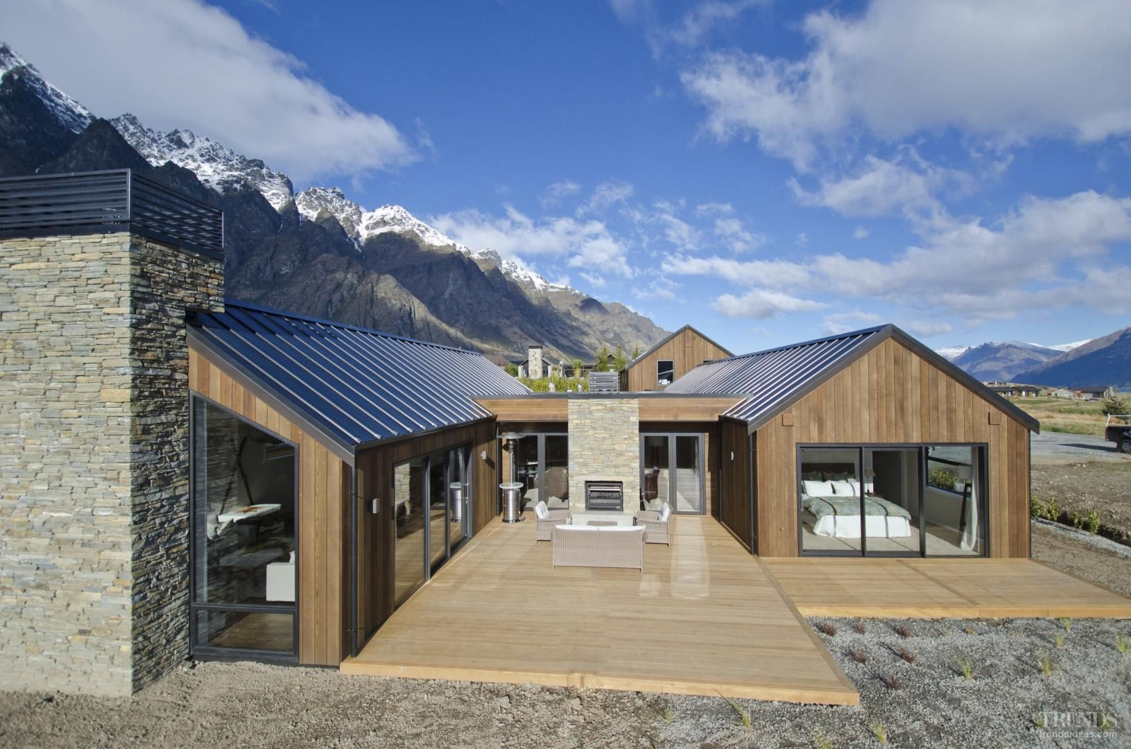 David reid homes show home in queenstown house design for Modern house designs nz