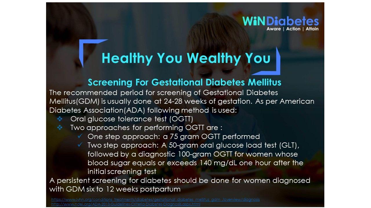 Windiabetes Shares Healthtips Gestationaldiabetesmellitus Screening Gestastion 24 28week Americandiabetesassociatio Diabetes Facts Diabetes Health Tips