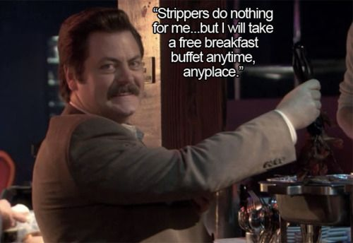 Ron Swanson Breakfast Gif