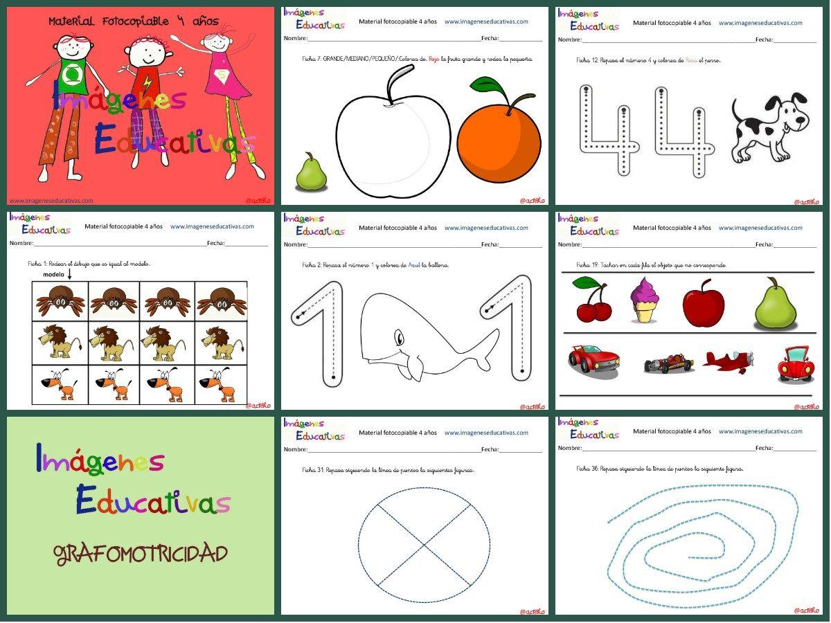 Cuadernillo De 40 Actividades Para 4 Anos Educacion Preescolar
