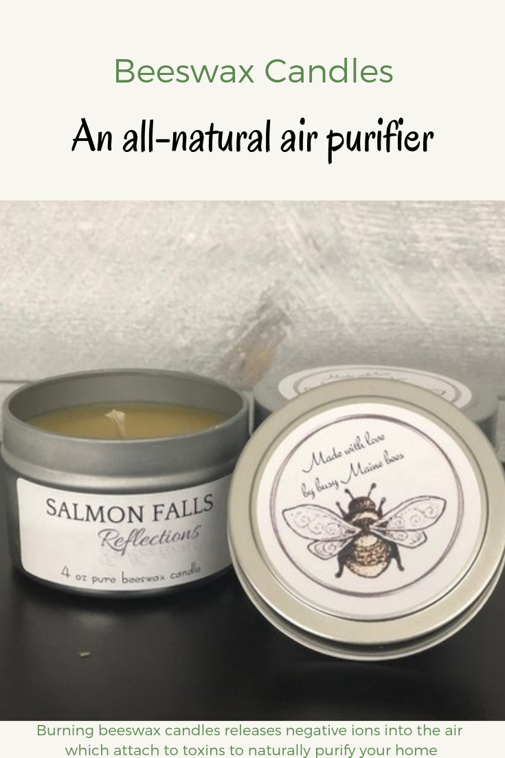 A natural air purifier, beeswax candles release negative