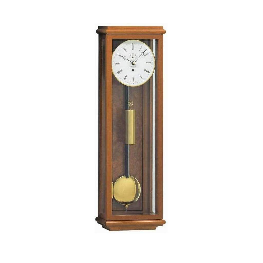 Kieninger Amalie 2851 41 01 Flat Mini Weight Regulator Cherry Brass Wall Clock Clock Antique Wall Clock