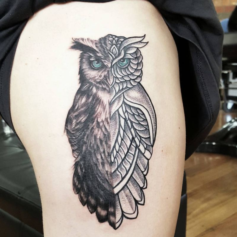 d91738552dc0d Today we're going to step again into the world of animal tattoos bringing  you 50 of the most beautiful owl tattoo designs, explaining their meaning.
