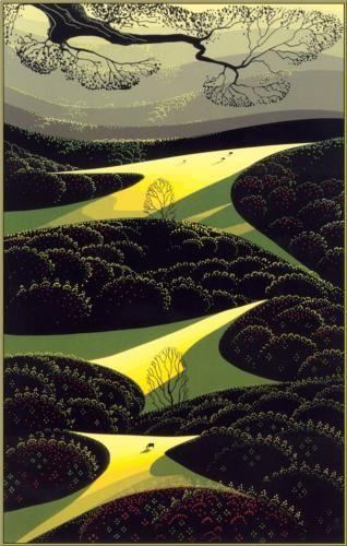 Three Little Fields - Eyvind Earle