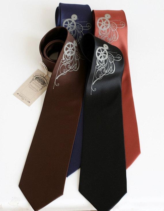 795bfa4cfb63 Men's silkscreen necktie. Screen printed microfiber tie, standard or narrow  width.