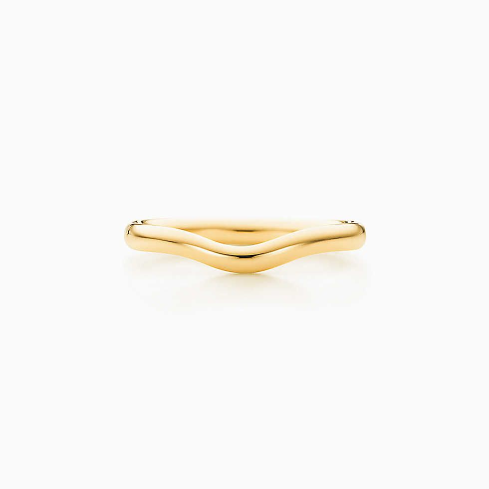 Elsa Peretti® wedding band ring in 18k gold, 2 mm wide.