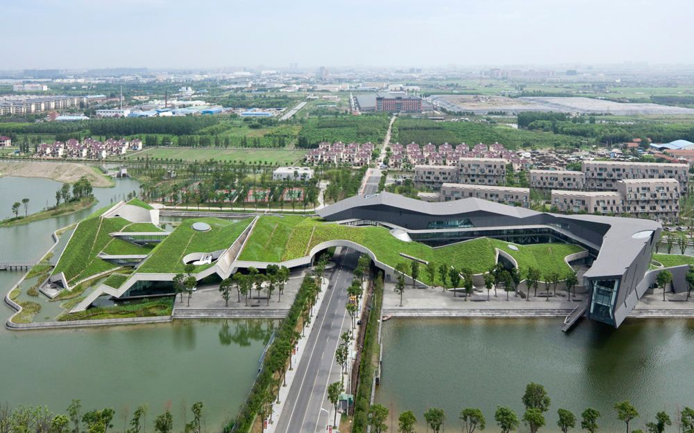 Si ge social de giant interactive shanghai swa group et morphosis architects toit v g tal - Immeuble vegetal ...
