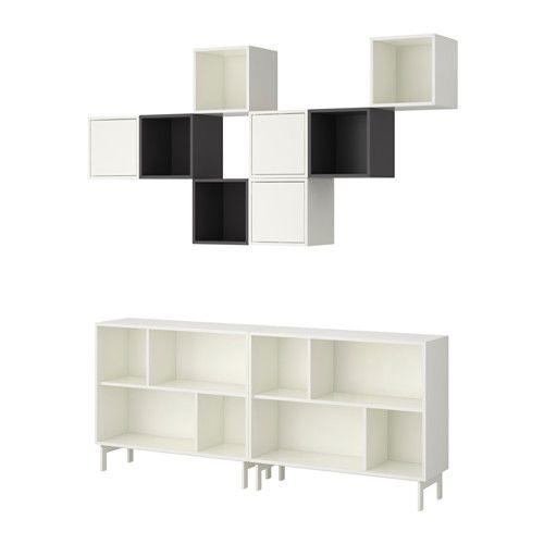 VALJE Reol IKEA Du kan lave din egen unikke løsning ved frit at kombinere skabe i forskellige størrelser og med eller uden låger og skuffer.