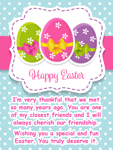 Thankful For You Happy Easter Card For Friend Birthday Greeting Cards By Davia Happy Easter Card Easter Card Sayings Happy Easter Greetings