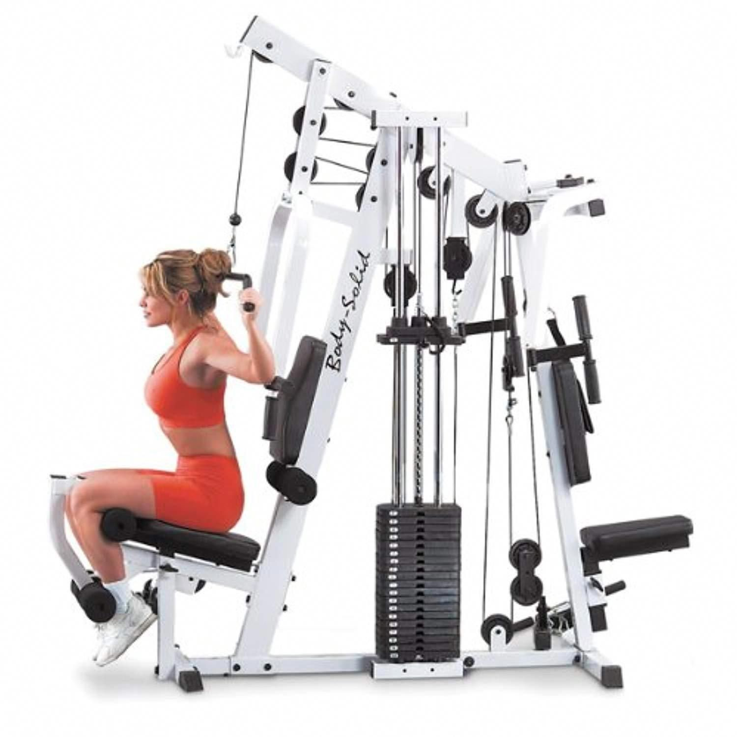 c1909624958 210 lb Selectorized Iron Weight Stack in 10l Home Gym  homeexerciseequipment