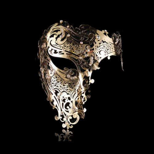 Phantom of the Opera Venetian Metal Filigree Laser Cut Masquerade Halloween Mask