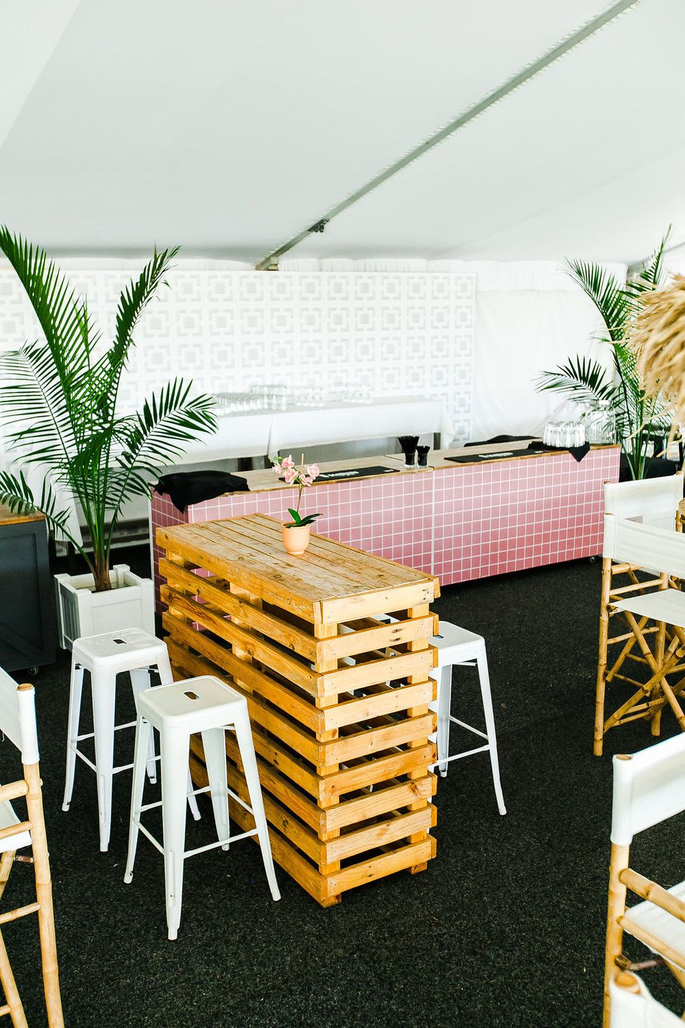 Corporate event styling doomben racecourse brisbane racing club event furniture hire by hampton event hire photo by kate robinson photography