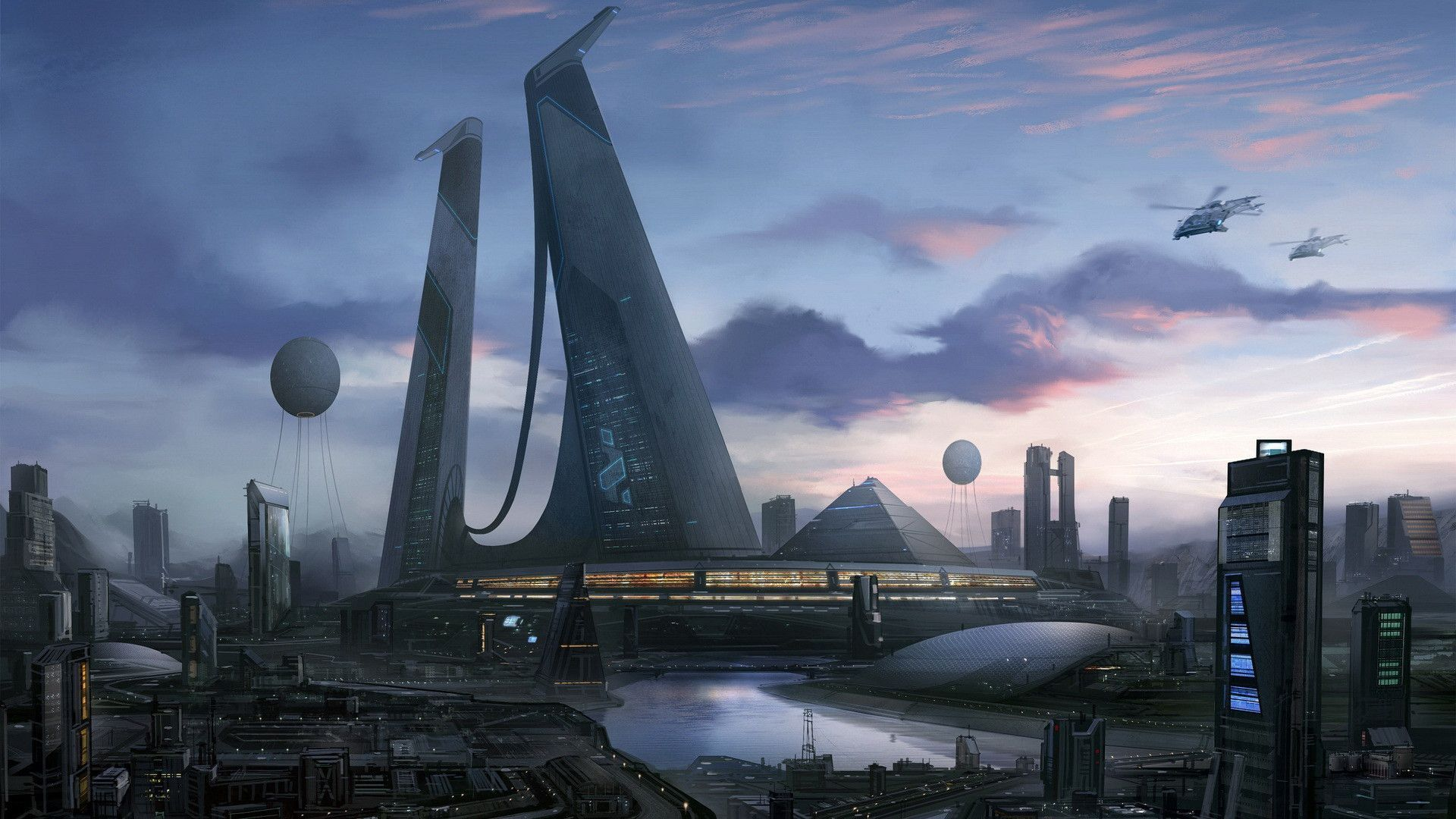 Wallpapers For Future City Wallpaper Futuristic City Sci Fi Wallpaper Sci Fi City