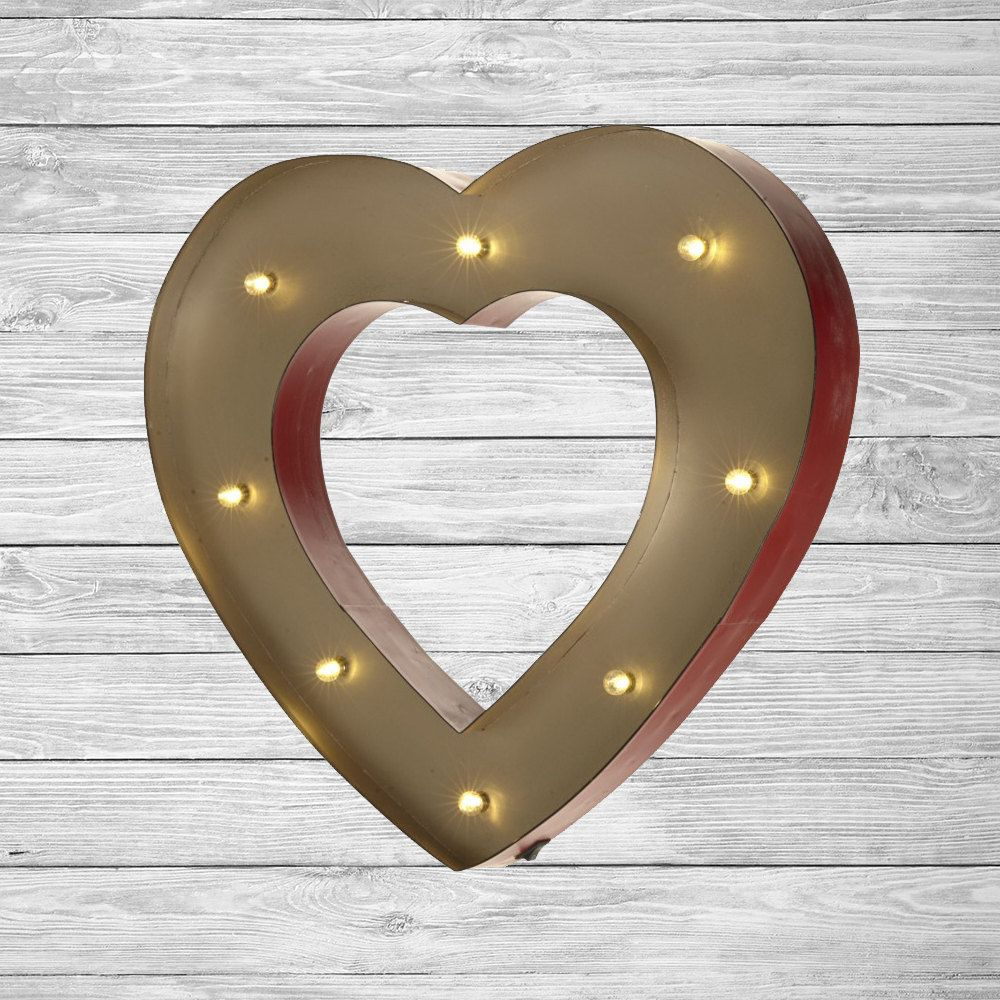 freestanding led light up heart letter lights numbers marquee letters wall mounted