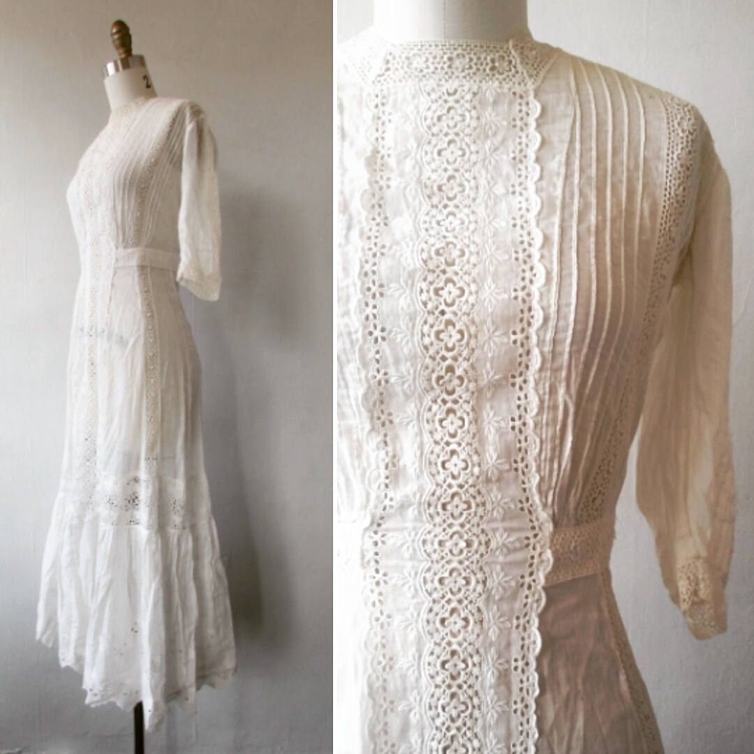 Reserved For Witchespedigree Edwardian Dress Antique Tea Etsy Lace White Dress Edwardian Dress Edwardian Gowns [ 1080 x 1080 Pixel ]