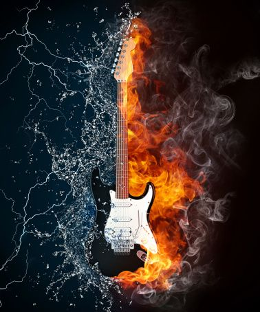 Come As You Are Leave As A Rockstar Music Wallpaper Guitar Images Water Illustration