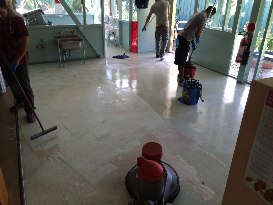 Strip And Seal Team White Spot Cleaning Commercial Cleaning