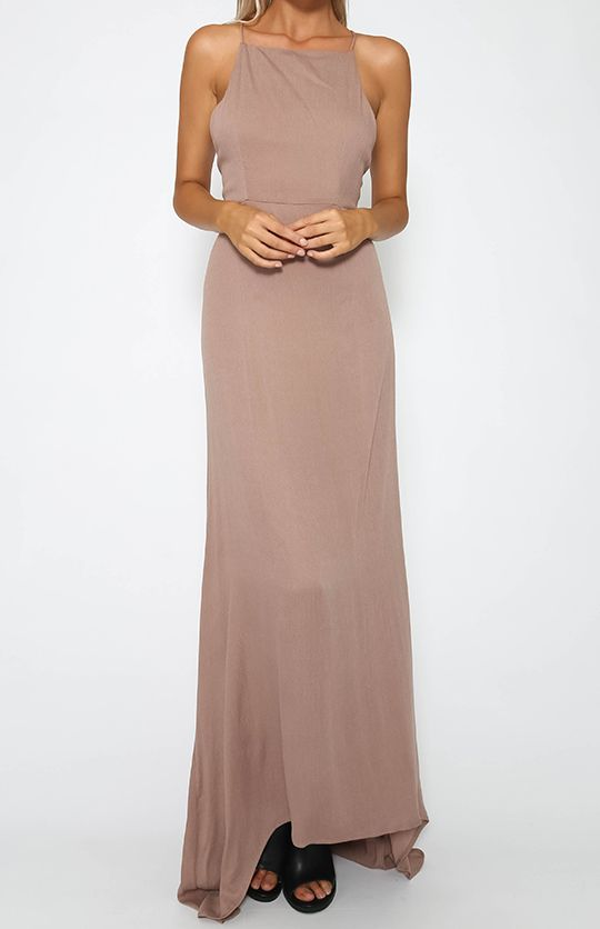 6fee67610132 Luna Tie Back Maxi Dress - Chocolate