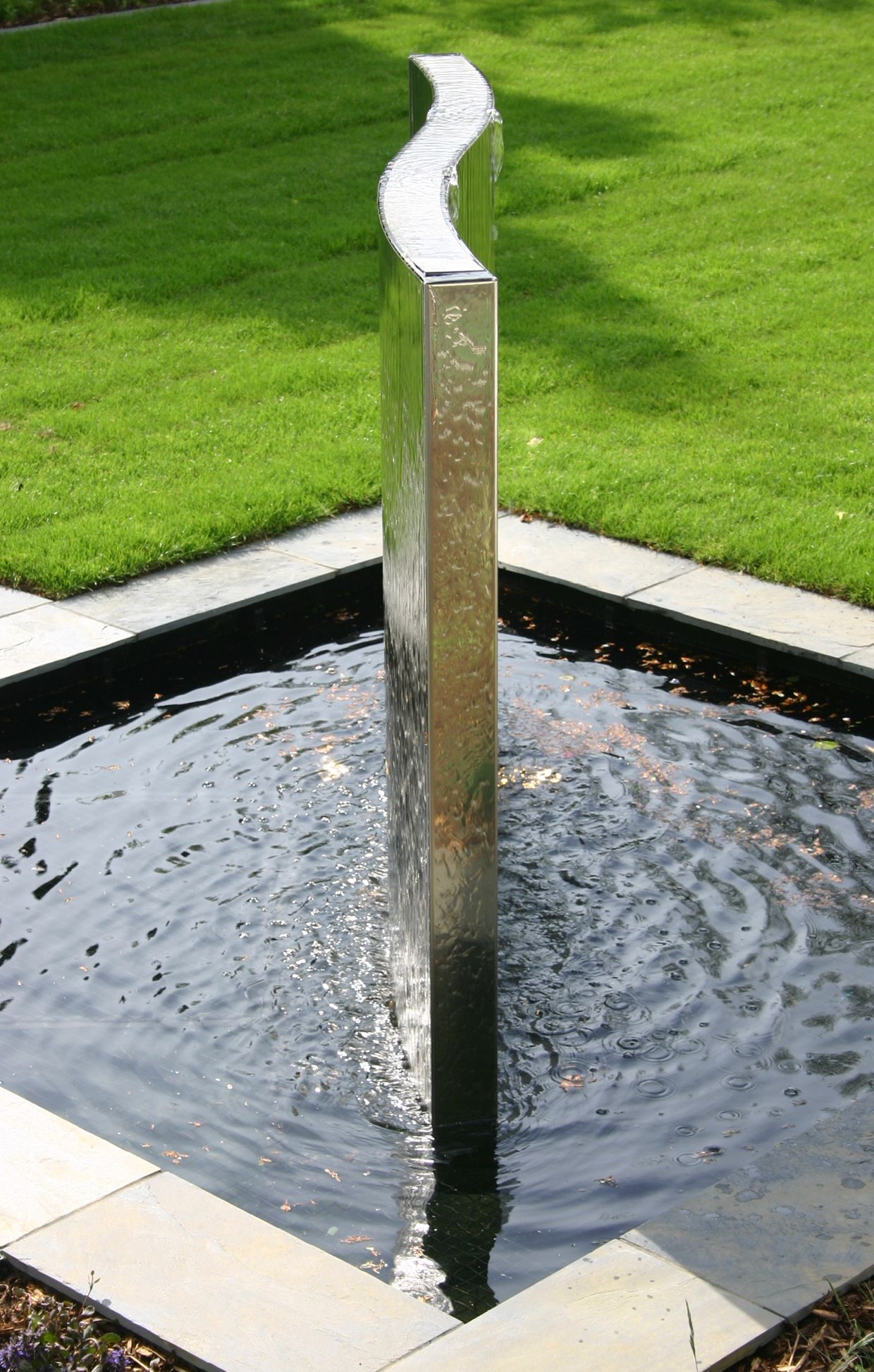 stainless steel water feature on lovely stainless steel water feature landscape design modern fountain water features lovely stainless steel water feature