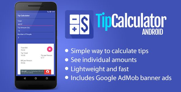 tip calculator for android code scripts and plugins pinterest