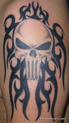 Punisher Tribal Punisher Tattoo Tattoos Punisher Skull Tattoo