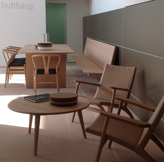 Bulthaup johannesburg showroom hans wegner ch25 chairs and for Coffee tables johannesburg